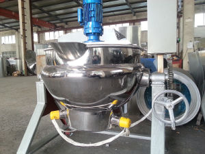 Food Sanitary Stainless Steel Tilting Type Steam Jacketed Kettle pictures & photos