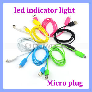 Micro Data Cable LED Light USB Charging Cable for Samsung S7 Android Mobile pictures & photos