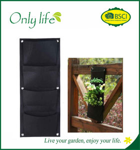 Onlylife Eco-Friendly Breathable Light 4 Planting Bags for Vertical Garden pictures & photos