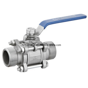 Ss316 Male-Male Thread 3PC Ball Valve pictures & photos