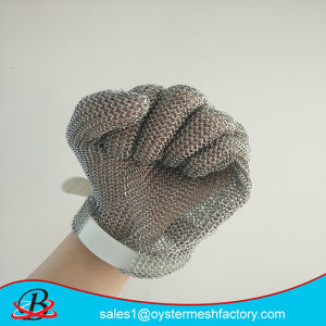Long Cuff Cut Resistant Stainless Steel Mesh Glove pictures & photos