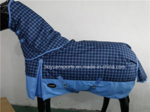 2016 New Design 600d Waterproof and Breathable Winter Horse Rug with Detachable Neck Cover pictures & photos