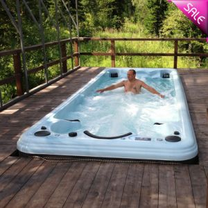 China Outdoor Used Fiberglass Rectangular Massage Low Cost Swimming Pool For Sale Sr870