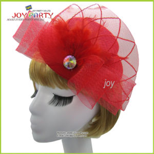Red Veil Mini Hat for Lady