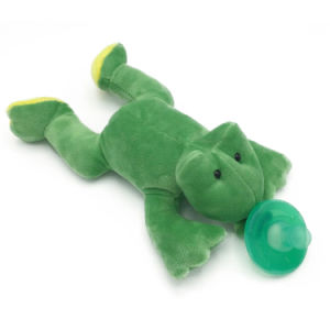 Stuffed Frog Pacifiers Baby Toys with Silicone Binky Teething Soother pictures & photos