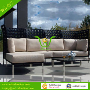Stainless Steel Feet Hotel Outdoor Rattan Wicker Sofa Set
