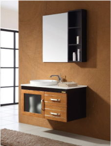 Solid Wood Bathroom Oak Wood Cabinet Ca-M132 pictures & photos