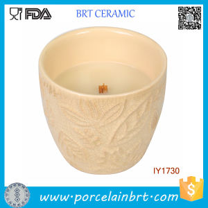 Hot Nice-Looking Handmade Empty Ceramic Candle Jar pictures & photos