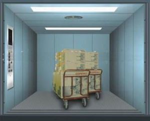 Freight Elevator with Single Door, Double Door for Warehouse