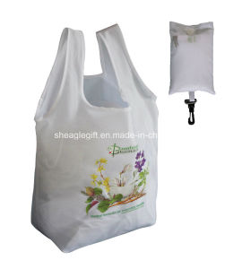Integrated Drawstring Pouch Polyester Grocery Tote Bags Wholesale pictures & photos