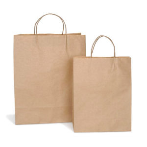 "12""X 6""X15.75"" Natural Kraft Paper Bag pictures & photos"