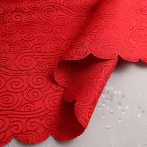 a Matte / Bright Textile Dyeing Polyester Jacquard Fabric for Tablecloths pictures & photos