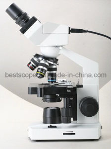 Built-in 1.3 Mega Pixel CMOS Binocular Digital Compound BS-2010bd Microscope pictures & photos