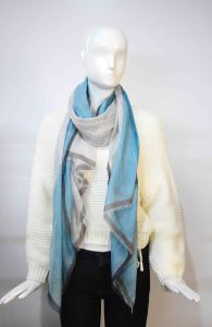 90%Wool & 10%Cashmere Plaid Scarf Water Soluble Yarns pictures & photos