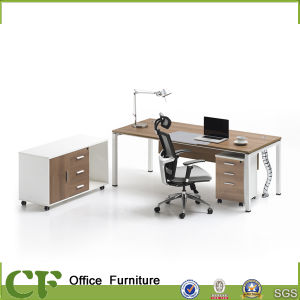 Latest Design Office Furniture Freestanding Office Desk with Returned Desk pictures & photos