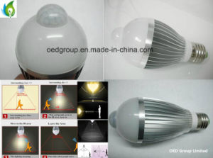 AC85-265V PIR LED Bulb 5W 7W with PIR Sensor and E27 Base pictures & photos