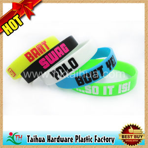 Custom Debossed Silicone Bracelet Wristband (TH-6920) pictures & photos