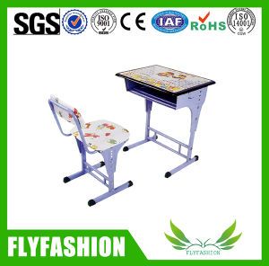 Simple Design Kid Study School Student Classroom Desk with Chair pictures & photos