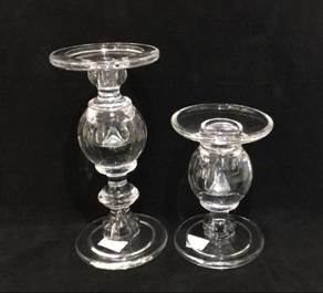 Transparent Big Bead Shaped Glass Candle Holders Candlestick pictures & photos