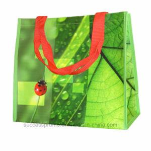 PP Woven Shopping Laminated Handbag for Women pictures & photos