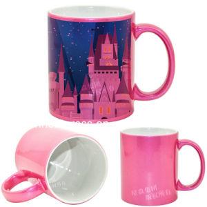 11oz Ceramic Pink Sparkling Mug pictures & photos