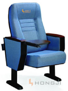 Leather Covered Cinema Theater Seating, Auditorium Hall Chair (HJ68A) pictures & photos