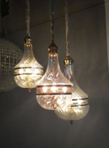 Round Glass Pendant Lamp with Elegant Lacer Cutting (WHG-898) pictures & photos
