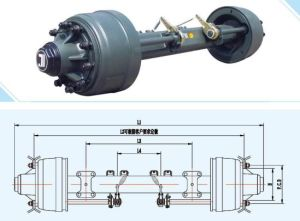 Semi Trailer Axle American Type Inboard Axle Jisheng Axle pictures & photos