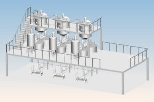Stainless Steel High Shear Dairy Beverage Food Emulsification Mixing Tank pictures & photos