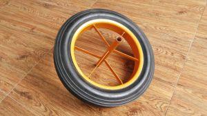 Sr2701 Solid Wheelbarrow Rubber Wheel 14X3.5 pictures & photos