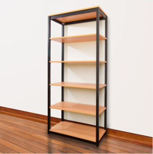 Metal Frame with Wooden Shelf Board