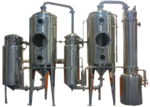 Energy Saving&Duoble Effect Sjn2-Vacuum Evaporator for Milk/Water/Jucie/Alcohol