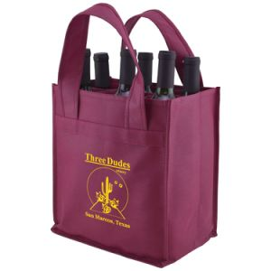 Large Non-Woven Tote Bag for Wine pictures & photos