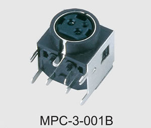 Mini DIN Power Connector (MPC-3-001B) pictures & photos