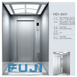 FUJI 6passengers Elevator Lift with Hairline Stainless Steel Car for Sale pictures & photos