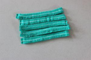 "Disposable Double Reinforcement19"" Non-Woven Strip Cap (green)"