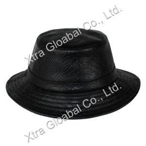 Fashion Snakeskin Leather Hat Bucket Hats pictures & photos