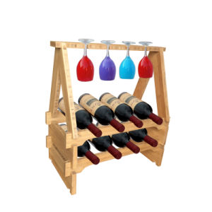 DIY Bamboo Wine Rack Cup Holder Bottle Rack pictures & photos