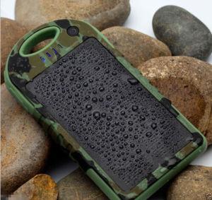 Solar Panel Charger Waterproof Portable Power Bank 5000mAh