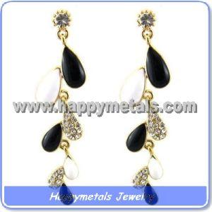 2013 Surgical Stainless Steel Leaf Shape Drop Earrings (E10014)