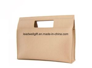 Felt Handbag Beige Cream Wool Women Bag Square Minimalist Bag pictures & photos