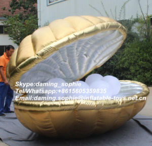 Lighting Inflatable Shell Tent with Pearl for Wedding Party Decoration