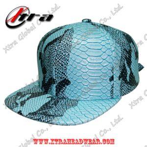 Sky Blue PU Snakeskin Faux Leather Cap Hip Hop Fashion Caps pictures & photos
