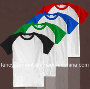 Men′s Fashion Raglan Cotton\Tc\CVC T-Shirt (CT-T001)
