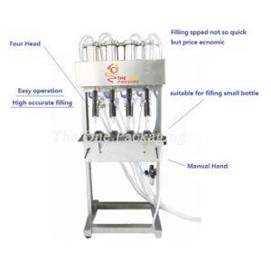 Vacuum Liquid Filler-Liquid Level Control Filling Machine Tovlf-4 pictures & photos