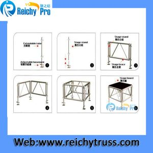1.22*1.22m Assembly Frame Aluminum Stage pictures & photos