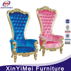 White Solid Wood High Back Throne Chair for Wedding (XYM-H108) pictures & photos