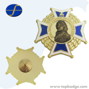 Round Shape Custom Printed Hard Enamel Advertising Badge (FTBG1356A) pictures & photos