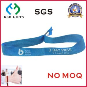 Customized Your Logo VIP Polyestesr Woven Wristband pictures & photos