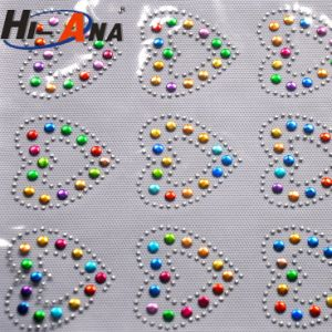 Cheap Price China Team Various Colors Rhinestone Letters Stickers pictures & photos
